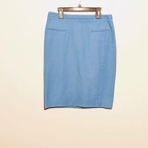 Banana Republic Blue Pencil Skirt Sz 2